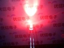 Светодиод ярко-красный 3мм, 2-2.5В, 620-630нм, 1400MCD, прозрачный корпус