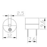 HS-1203A активный 3В зуммер 12X9 мм