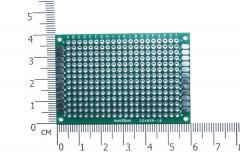 Плата макетная 40*60мм 22402A-18, металлизированная с двух сторон