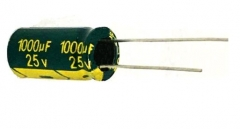 Конденсатор электролитический 1000 мкФ 25 В 10*20мм LOW ESR Cheng