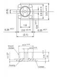 Разъем типа IPX Surface Mount Plug (P/N LTI-IPXSM66AL)