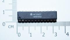 MC3362P маломощный двухконверсионный FM приемник, 2В…6В, 3.6мА, DIP-24