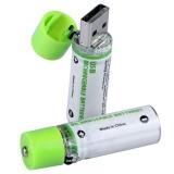 Аккумулятор размера AA 1450 мА/ч с встроенной зарядкой от USB (комплект 2шт)
