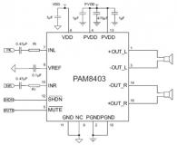 Миниатюрный стерео усилитель PAM8403 2х 3W 5В класс D