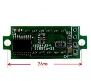 Бескорпусной электронный встраиваемый вольтметр 3,5В-30В (красный, 3 разряда) 0,28