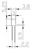 Светодиод ярко-зеленый 3мм, прозрачный корпус