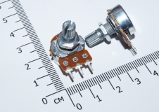 Переменный резистор 5КОм (потенциометр, короткая ручка 15 мм, диаметр 6мм)