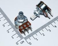 Переменный резистор 10 КОм ( двойной потенциометр, короткая ручка 15 мм, диаметр 6мм)