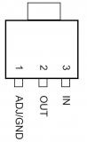 AMS1117-3.3В, линейный регулятор с малым падением напряжения, 800мА, 3.3В (SOT-223)