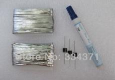 Комплект для монтажа солнечной батареи: 30м шины 2мм, 3м шины 5мм, 3 диода шоттки и флюс