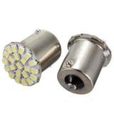 Светодиодная лампа для автомобиля, цоколь 1156 BA15S, 12В, 135 Люмен, 22 SMD светодиодов 1206/3020 для сигнала поворота