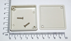 Корпус для РЭА пластиковый 51 * 51 * 15 мм (белый)