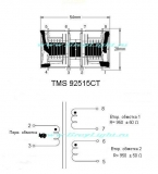 TMS92515CT повышающий трансформатор инвертора для ТВ подсветки, samsung
