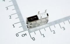 USB разъем с контактами на 90 градусов (мама, длинный корпус)