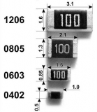 Резистор 1 кОм ±1%, smd0805 (упаковка 5шт.)