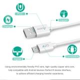 Кабель micro USB - USB 1м Aukey с поддержкой QC2.0 и QC3.0, ток 2.5 Ампер