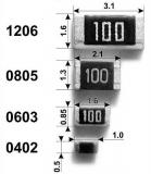 Резистор 1.5 кОм ±1%, smd0805 (упаковка 5шт.)