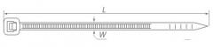 Хомут кабельный 2.5*100 мм, цвет черный (упаковка 5 шт.)
