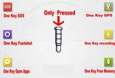 Кнопка в разъем наушников (360 Klick quick button) с держателем на провод наушников