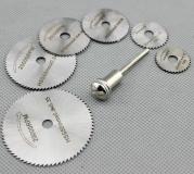 Набор дисковых пил 7 предметов 22, 25, 32, 35, 44, 50 мм с держателем