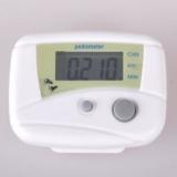 Шагомер счетчик калорий LCD белый