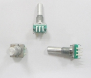Энкодер для аудиотехники EC11, 360° вращение, 5 контактов с выключателем 13.0 * 11.0 * 25.0 мм длина ручки 20мм