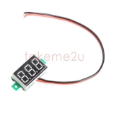 Бескорпусной электронный встраиваемый вольтметр 0В-100В (красный, 3 разряда) 0.36