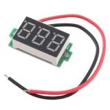 Бескорпусной электронный встраиваемый вольтметр 2,5В-30В (красный, 3 разряда) 0,36
