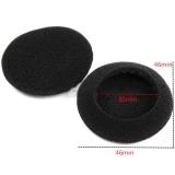 Поролоновые амбушюры для наушников 45-50мм черные (пара)