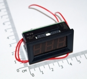 Электронный встраиваемый вольтметр 30В-500В (синий, переменное напряжение)