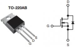 IRFZ44N, MOSFET N-канал (55В, 49А, 94Вт, 0.0175 Ом)