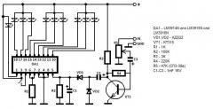 LM3914N-1, DIP18, Драйвер линейных светодиодных индикаторов