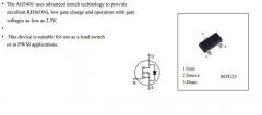 AO3401, (30В, 4.2A, 1.4Вт) SOT23 smd P-Channel Enhancement Mode FET