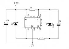 PT4115 SOT89-5 стабилизатор тока (ШИМ-драйвер) с диммированием