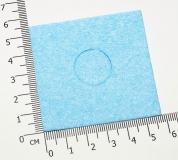 Губка для чистки жала паяльника  59 * 59 * 1 мм (5 мм в рабочем состоянии)