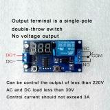Таймер задержки включения или выключения с индикацией, 3 разряда, питание 12В, коммутация 250В 10A AC