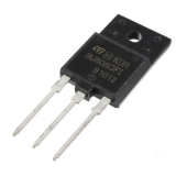 BU808DFI транзистор биполярный составной TO-3PF, NPN+D Darl, 1400В, 8А, 52Вт