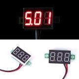 Бескорпусной электронный встраиваемый вольтметр 0-30В (красный, 3 разряда) 0,28