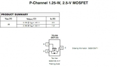 Транзистор SI2301, A1SHB (20В, 2.2A, 1.25Вт) SOT23 smd P-Channel Enhancement Mode FET