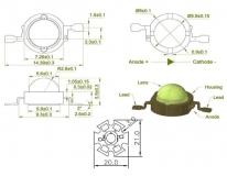 Светодиод инфракрасный 730 нм 3 Вт EPISTAR (IF 3W High Power Led)