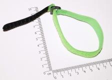 Цветные стяжки для проводов на липучке длиной 27см, ширина 2см, цвет салатовый