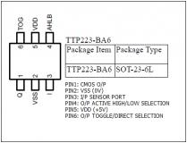 TTP223-BA6 микросхема сенсорного выключателя, SOT23-6L