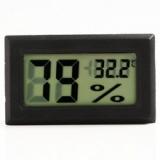 Цифровой LCD гигрометр - термометр 10%RH ~ 99%RH, -50°C + 70°С (черный)