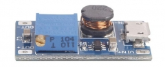 Модуль DC-DC повышающий MT3608  с 2В - 24В до 5В - 28В, до 2А, вход micro USB