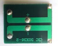 Поликристаллическая солнечная батарея 1.1В 95мА , размер 30 х 36 х 2 мм
