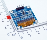 0,96-дюймовый синий/голубой ЖК дисплей 128 * 64 OLED-дисплей, I2C IIC, модуль для Arduino, SSD1306