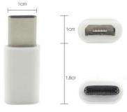 Переходник микроUSB - USB Type C 5pin ( USB3.1) белый