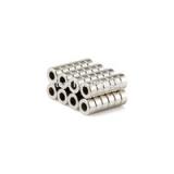 Неодимовый магнит (кольцо) NdFeB D6 x h3 мм отверстие 3мм N50