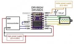 Stepstick Drv8825 контроллер шагового двигателя RepRap + радиатор