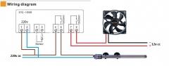 Цифровой регулятор температуры с двумя реле и термопарой, STC-1000, -50 ~ +99,9 градусов Цельсия, 90 ~ 250V 10A